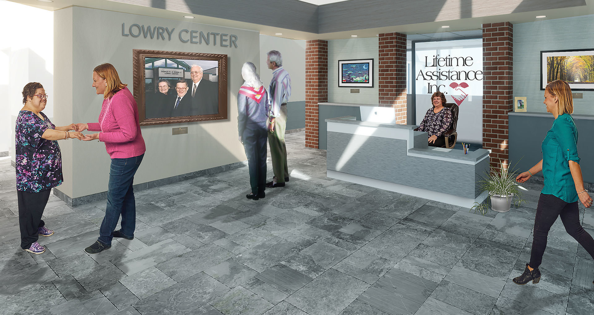 New reception area at Lifetime Assistance