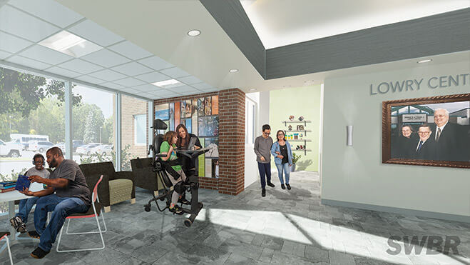 New Lowry Center area at Lifetime Assistance
